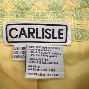 Carlisle Jackets & Coats - Carlisle Tweed Yellow & Green Zip Front Blazer 10